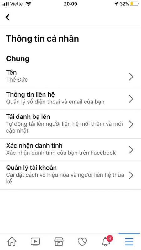 cách thêm email vào facebook trên điện thoại, thêm email vào facebook, thêm địa chỉ email vào facebook