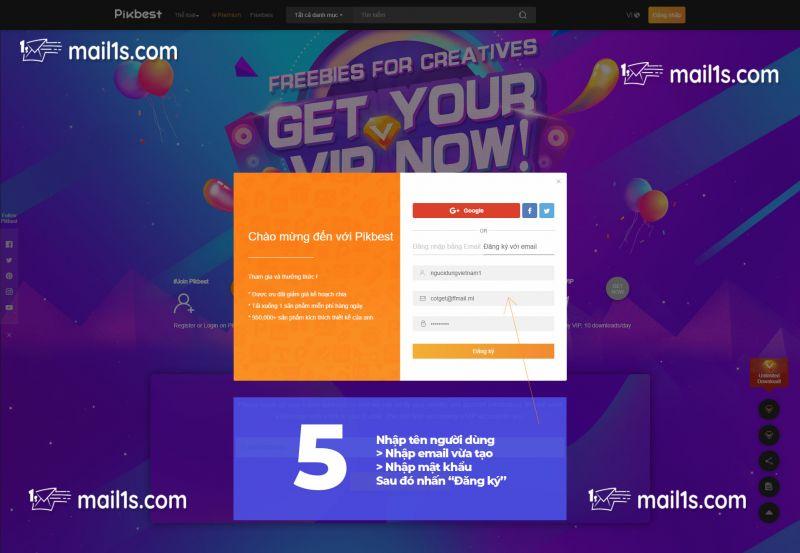 Hướng dẫn cách nâng cấp tài khoản PikBest download Free
