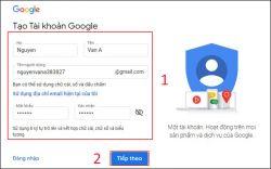 Hướng dẫn tạo tài khoản gmail miễn phí trên điện thoại và máy tính
